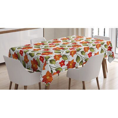 East Urban Home Ambesonne Floral Tablecloth Lily Blooms Nature