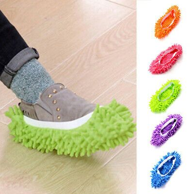 New Floor Dust Cleaning Slippers Shoes Mop Non Slip House Shoe Multi Function