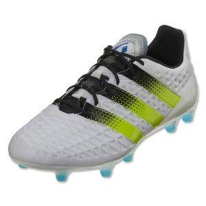 adidas Ace 16.1 FG AG Soccer Cleat White-Semi Solar Slime  475ef03c1286e