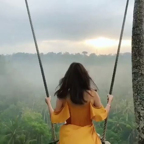 This is why we can't get enough of Bali. Swings soaring over the rice paddies and lush jungle backdrops in Bali have quickly become Instagram-feed famous. Book this experience at slay lifestyle #bali #travel #luxurytravel #lifestyle #slay #baliswing #whattodoinbali #honeymoonideas #slaylebrity #slaylifestyle Less