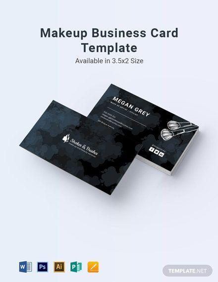Makeup Business Card Template In 2020 Makeup Business Cards Business Card Template Card Template