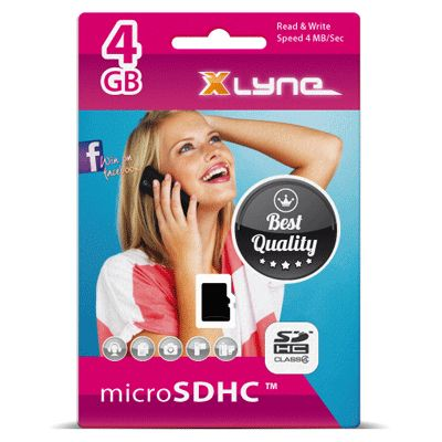 Xlyne micro SD Karte 4GB