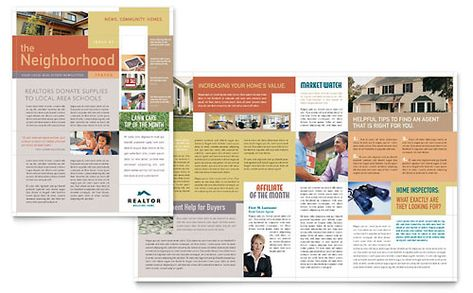 Realtor \ Real Estate Agency Newsletter Template Morningside - real estate newsletter template