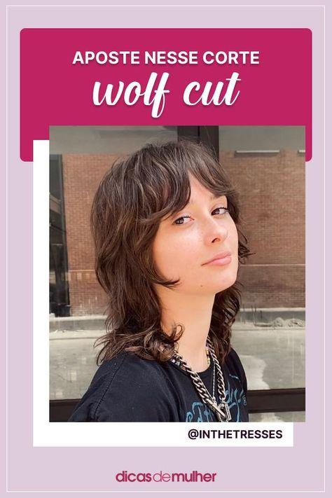 #wolfcut #corte #cabelo #visual #dicadebeleza #cortedecabelo #shaggy #mullet | 📸 @inthetresses