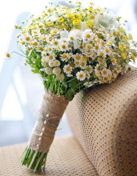 Bouquet Sposa Juta.Bouquet Rustici Con La Juta Fiori Di Campo Per Matrimonio