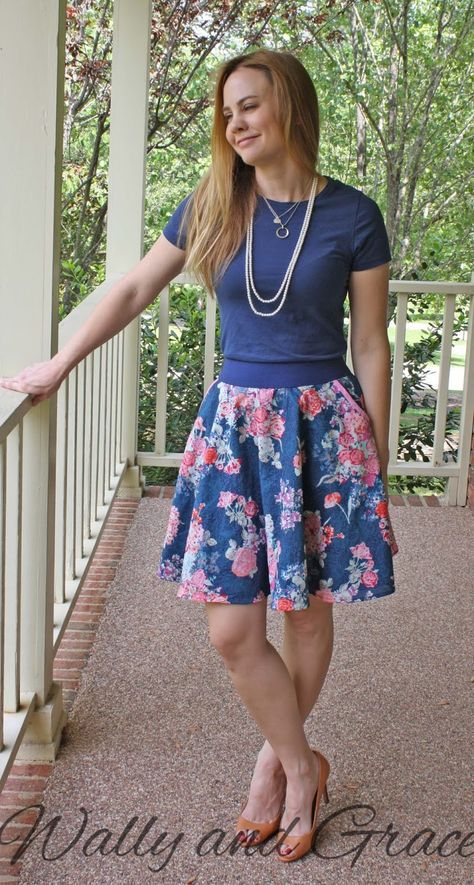 Pattern Emporium Skater Skirt Clothing Patterns Skirts Clothes