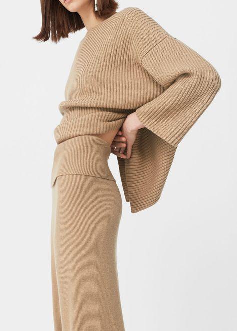 Geschicktes Design neue Fotos am besten online Gerippte palazzo-hose - Damen   knit in 2019   Hosen ...