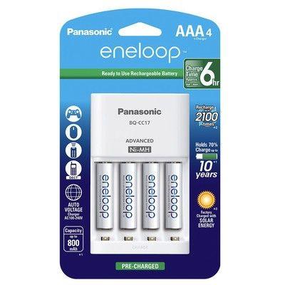Grab Four Aaa Eneloop Rechargeable Batteries With A Charger For 17 Rechargeable Batteries Battery Charger Panasonic
