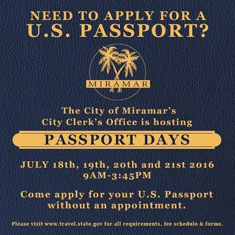 Miramar Is Hosting Passport Days All Week Apply For Your Us