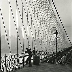 Fritz Henle - Sailor on the Brooklyn Bridge, New York City, 1950