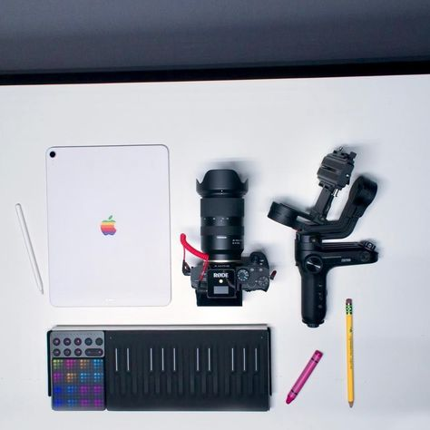 What tech do you always pack in your bag?⠀ 📷: @infosmercial⠀ ⠀ #roli #seaboard #songmakerkit #creativity #contentcreator #ipadpro #ipadpro2018 #sonya7iii #a7iii #rodemic #weebilllab #zhiyun #gimbal #tamron2875 #tamron #appleproducts #applefan #videogear #photogear #youtuber #creativitymatters #contentcreation #creativityeveryday