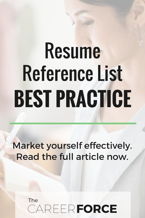 Should A Resume Include References Should I Put References On My Resume  Resumes  Pinterest