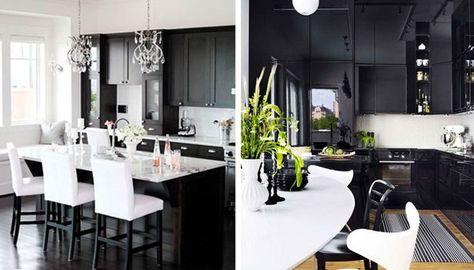 Idea design cucina bianca e nera! 20 idee da cui trarre ...