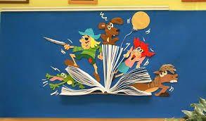 Resultado De Imagem Para Murales Escolares Para El Dia Del Libro