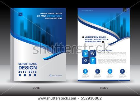 Annual report brochure flyer template, white cover design - advertisement brochure