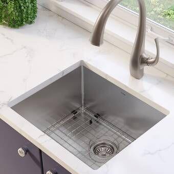 Standart Pro 30 L X 18 W Undermount Kitchen Sink With Basket Strainer Undermount Kitchen Sinks Stainless Steel Kitchen Sink Sink