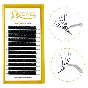 Quewel Lashes Pre Glue Volume Lash Extensions, Wholesale