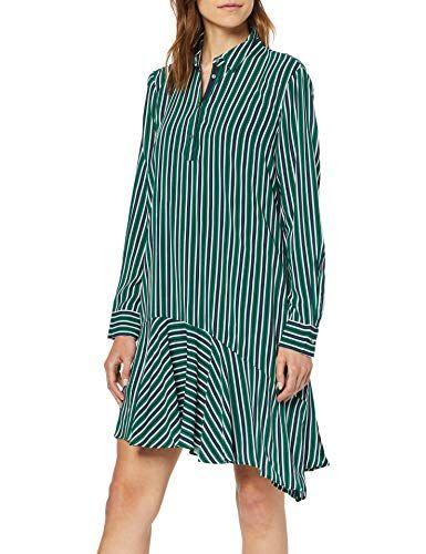 Esprit Damen 039ee1e007 Kleid Grun Emerald Green 305 Herstellergrosse 42 Damen Kleider Bekleidung