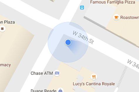 Google Maps en Android sustituye la flecha de dirección por una baliza azul - http://www.androidsis.com/google-maps-android-sustituye-la-flecha-direccion-una-baliza-azul/