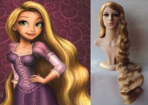 DELUXE RAPUNZEL TANGLED EXTRA LONG BLONDE WAVY 41 INCH COSTUME WIG | eBay