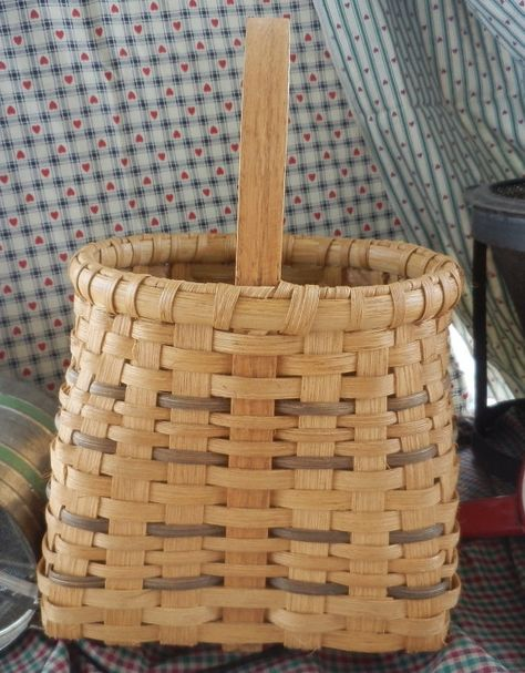 Handwoven Sharp Top Basket Country Basket by CaneySpringsCrafts