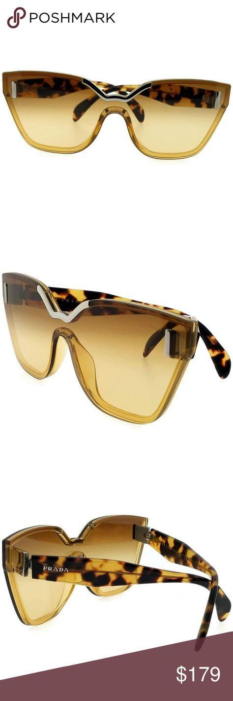 43ae2c217472 PR16TS-VIR1G0 Women s Yellow Frame Sunglasses NWT New gorgeous authentic  Prada PR16TS-VIR1G0 yellow