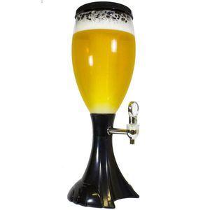 Chopeira Torre Chopp Iluminada Cerveja Gelada Completa 2 5l Preto