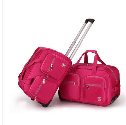 Find More Travel Bags Information About Wheeled Travel Bag Trolley Oxford Cabin Rolling Luggage Bags Travel Trol Luggage Bags Travel Trolley Bags Travel Duffle