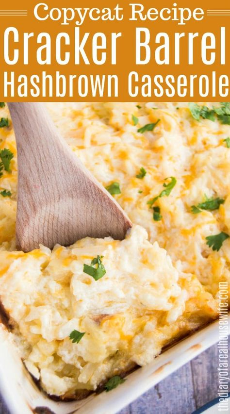 You have to try this, Cracker Barrel Hashbrown Casserole #sidedish #easyrecipe