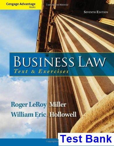 Cengage Advantage Books Business Law Text And Exercises 7th
