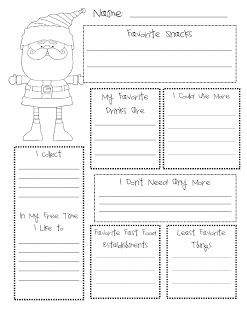 Secret Santa Template Form   Secret Santa Classroom Freebies Secret Santa And Santa