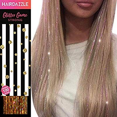 Amazon Com Hair Dazzle Holographic Hair Tinsel Set Ultimate