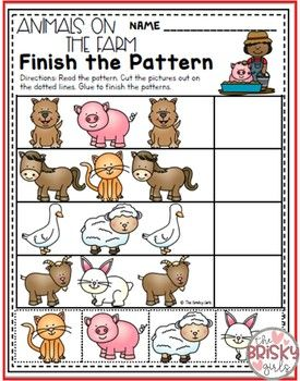 Farm Theme Pattern Activities | The Brisky Girls Products