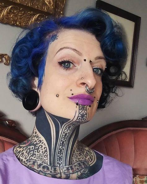 @eml0 #blackworktattoo #headtattoo #necktattoo #instaart #tatts #tattoo #tattooed #ink #model #tribe #facetattoo #tattoomodel…