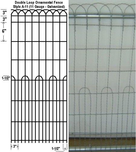 decorative wire garden fence. fencing specialty fence ornamental loop wire a11 48 decorative garden