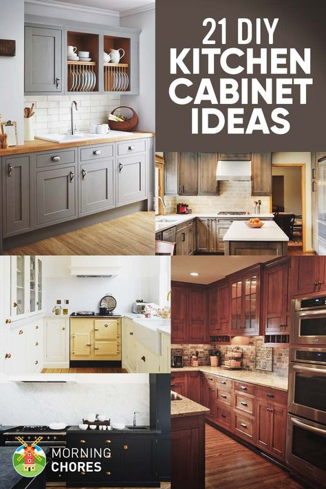 21 diy kitchen cabinets ideas plans that are easy cheap to build rh pinterest ru