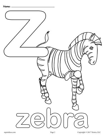 Letter Z Alphabet Coloring Pages 3 Printable Versions Alphabet Coloring Pages Abc Coloring Pages Coloring Letters