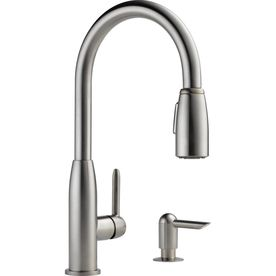 Peerless Stainless 1 Handle Deck Mount Pull Down Kitchen Faucet