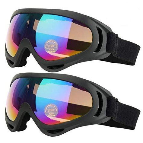 6a16a7e516b 2Pack Ski Goggles Snowboard Adjustable UV 400 Protective Windproof for  Snowboard  JP