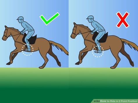 How to Ride in 2 Point Position: 8 Steps (with Pictures) - wikiHow