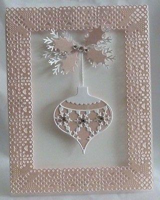 memory box ornament die christmas card