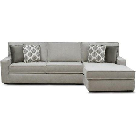 Evans Sectional With Chaise By England, Crowley Furniture Lees Summit