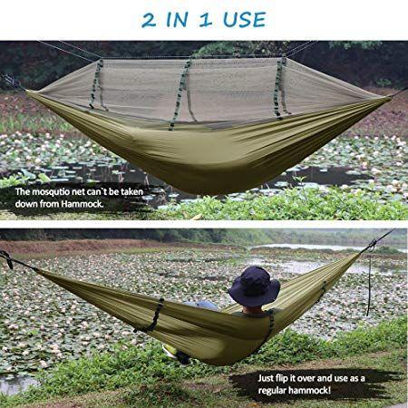 Naturefun Ultraleichte Moskito Netz Camping Hangematte 300kg