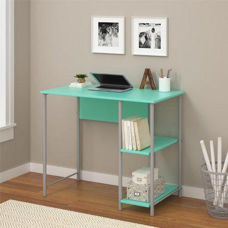 Mainstays Basic Metal Student Computer Desk Blue Walmart Com Student Desks Metal Office Desk Desk