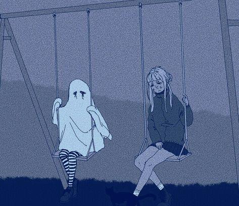 #Sad #Blue #Dark #Ghost #Sadness #Aesthetic