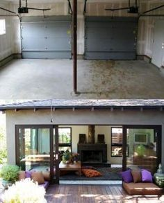 Perfect Turn Garage Into Living Space Before And After Photos | ... Garage Space As