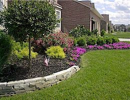 Midwest Residential Landscaping Example Pinterest Small Retaining Wall And Front Yard