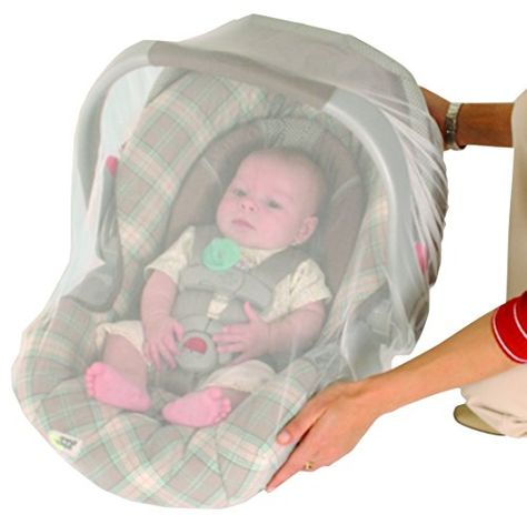White Nuby Stroller and Carrier Netting