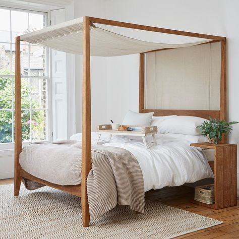 Our Sumatra Four Poster Bed Is Handmade By Artisans From Rustic Reclaimed Teak In Indonesia Bedroom Design Four Poster Bed King Size Bedroom Sets