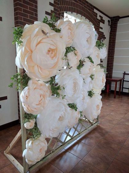 Pin By Maura On Recruitment Day 1 2 Paper Flower Backdrop Giant Paper Flowers Wedding Decorations